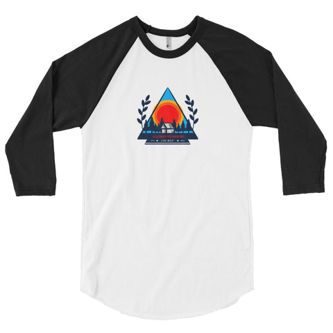 Camp Live Wild 3/4 sleeve raglan shirt