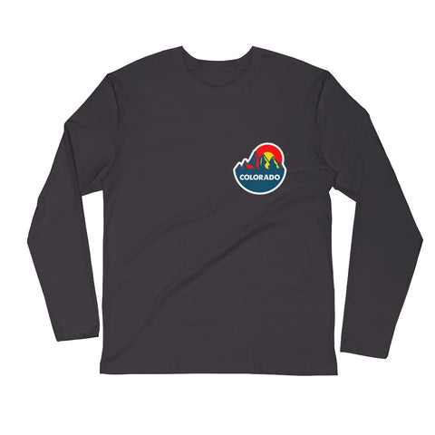 Colorado Mountain Sun 2.0 Long Sleeve Fitted Crew
