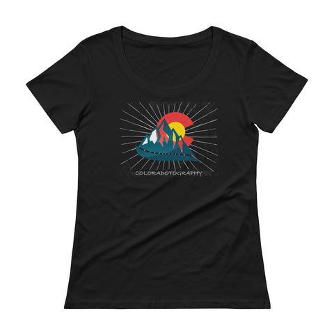 Coloradotography Sunbeam Women's Scoopneck T-Shirt