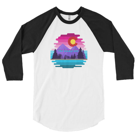 The Camp Life 3/4 sleeve raglan shirt