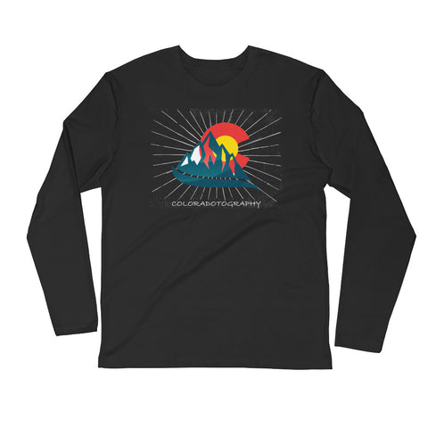 Coloradotography Sunbeam Long Sleeve Fitted Crew