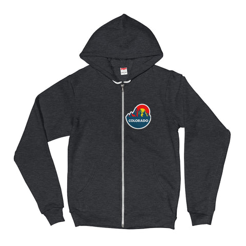 Colorado Mountain Sun 2.0 Zipper  Hoodie