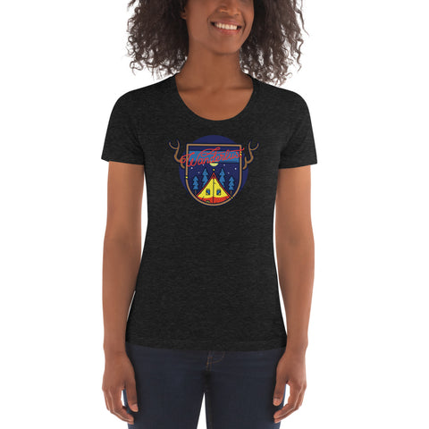 Wanderlust Women's Trip-Blend Crew Neck T-shirt
