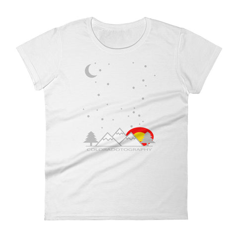 Coloradotography Sky Women's Cotton shirt