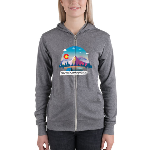 Happy Spot Women's zipper hoodie