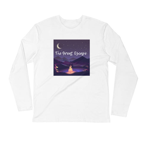 The Great Escape Men's Long Sleeve Fitted Crew