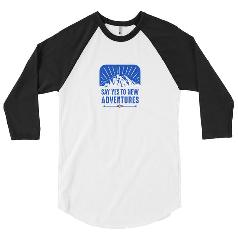 Yes To Adventure 3/4 sleeve raglan shirt