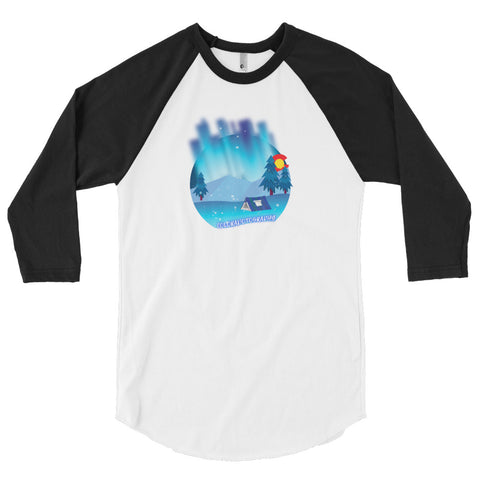 Camping Lights 3/4 sleeve raglan shirt