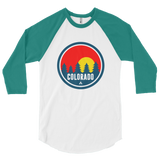 Colorado Red Trees 3/4 sleeve raglan shirt