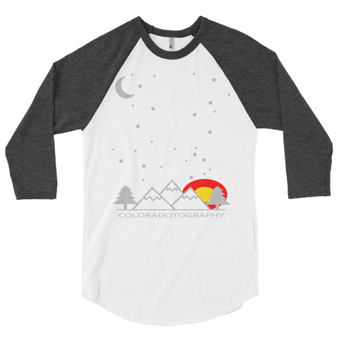 Coloradotography Sky 3/4 sleeve raglan shirt
