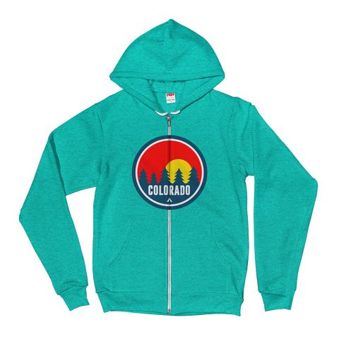 Colorado Red Trees Hoodie Zipper