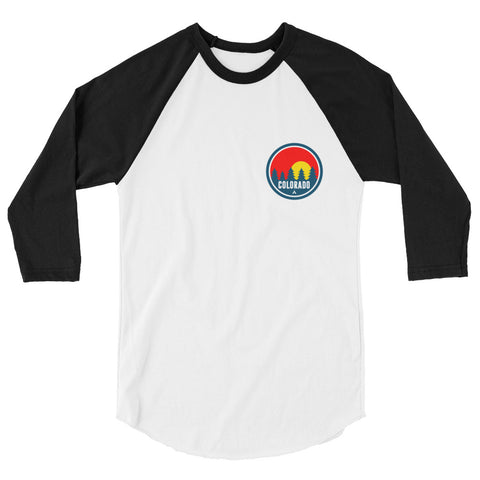 Colorado Red Trees 2.0 3/4 sleeve raglan shirt