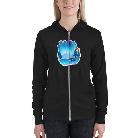 Camping Lights Women's Zipper  hoodie