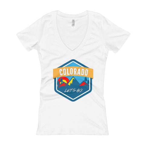 Colorado Let's Go! Women's V-Neck