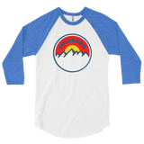 Colorado Sunset 3/4 sleeve raglan shirt