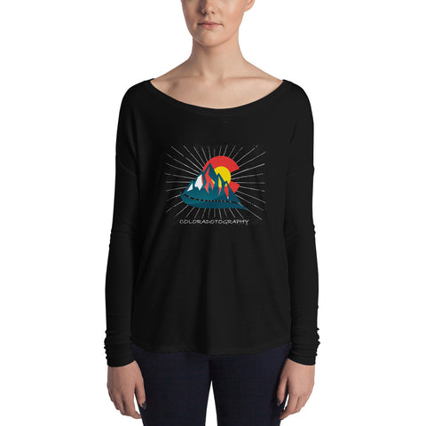 Coloradotography Sunbeam Ladies' Long Sleeve Tee