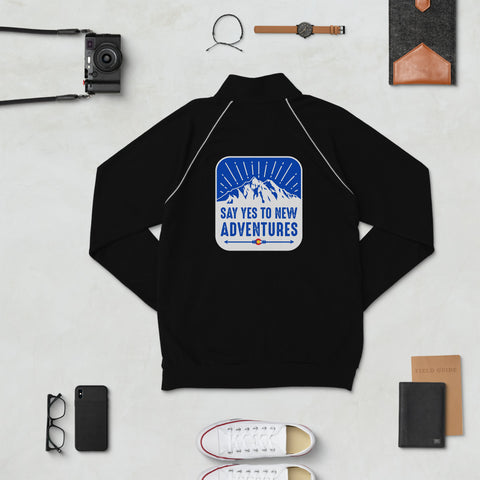 Yes to Adventure Piped Fleece Jacket