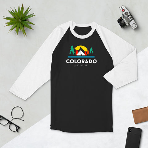 Colorado Adventure 3/4 sleeve raglan shirt