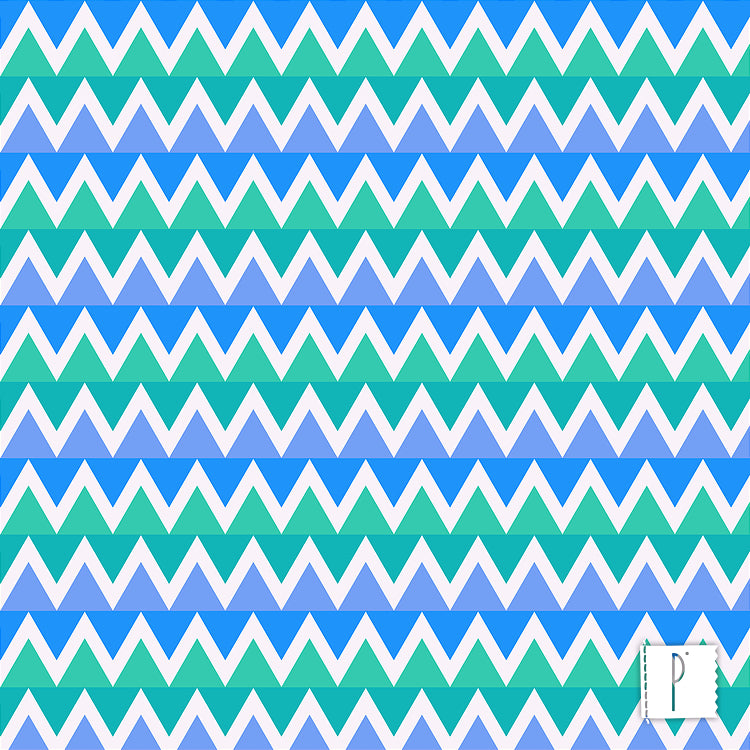 Chevron Colour Azul