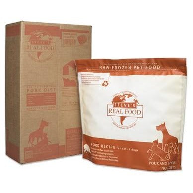 Steve's Real Food | Raw Pet Food - Pork Diet for Dogs & Cats (Local Delivery ONLY - Will Not Ship)