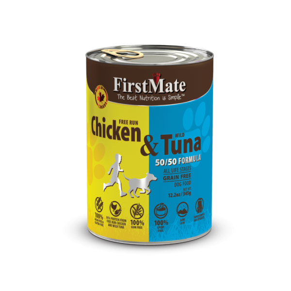 First Mate | Chicken & Tuna Canned Dog Food 12.2oz