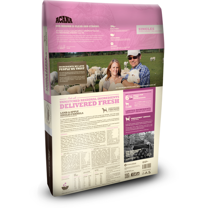 ACANA | Lamb & Apple Singles Formula Grain-Free Dry Dog Food