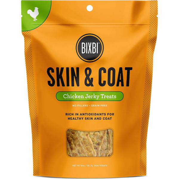 Bixbi® | Skin & Coat Chicken Jerky Treats