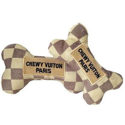 Haute Diggity Dog™ | Chewy Vuiton Checkered Bone Dog Toy