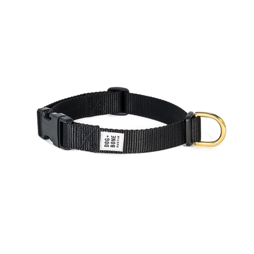 Dog + Bone | Snap Collar - Black