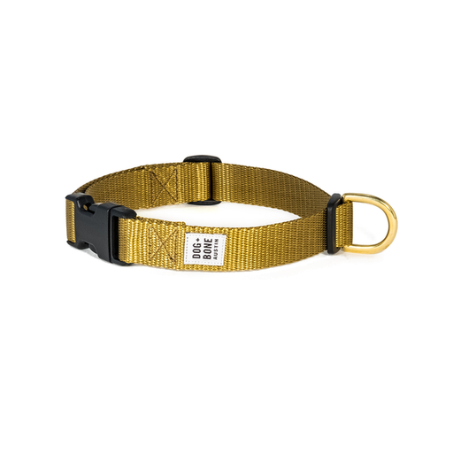 Dog + Bone | Snap Collar - Gold