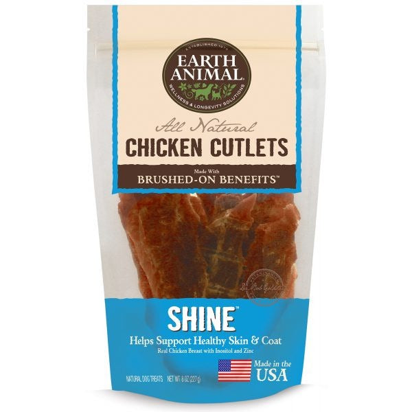 Earth Animal® | Shine Chicken Cutlet Dog Treats