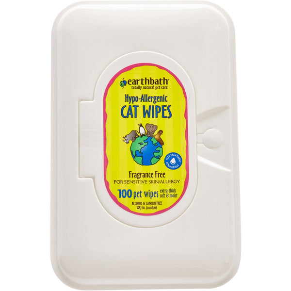 Earthbath® | Hypo-Allergenic Cat Grooming Wipes