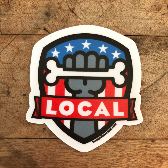 Local Pet Market | Patriotic Shield Sticker