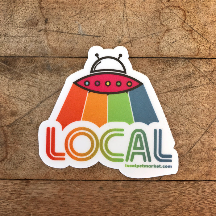 Local Pet Market | Alien Vibes Sticker