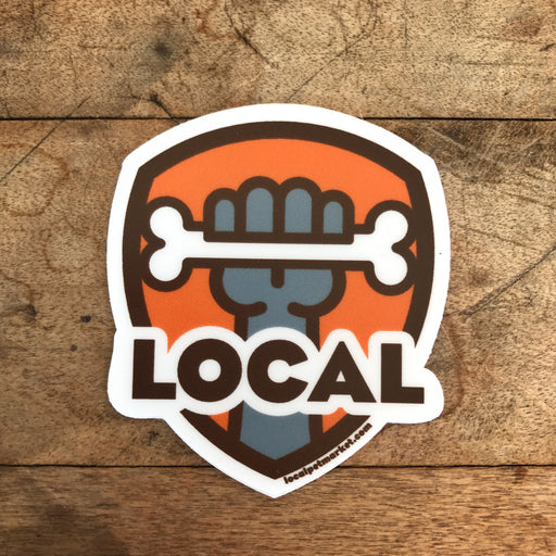 Local Pet Market | Retro Shield Sticker