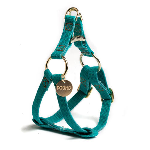 Found My Animal | Cat & Dog Cotton Harness - Teal