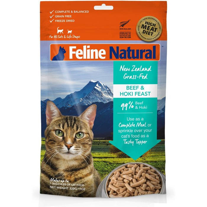 Feline Natural™ | Freeze-Dried Beef & Hoki Feast Cat Food