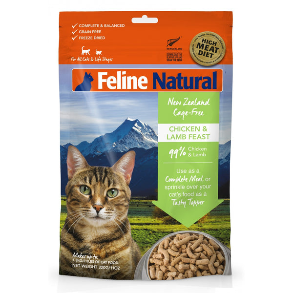 Feline Natural™ | Freeze-Dried Chicken & Lamb Feast Cat Food