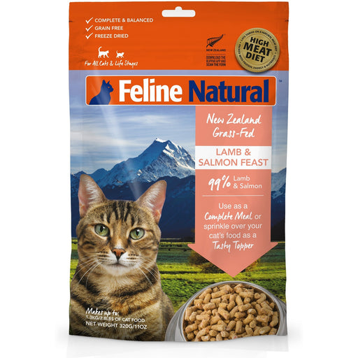 Feline Natural™ | Freeze-Dried Lamb & Salmon Feast Cat Food