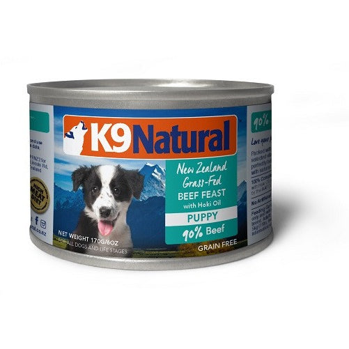 K9 Natural™ | Beef & Hoki Can Puppy Food