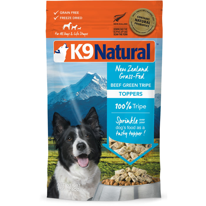 K9 Natural™ | Freeze-Dried Beef Green Tripe Topper