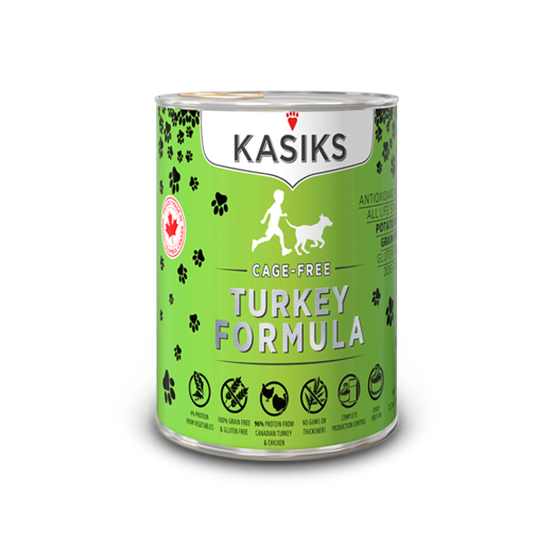 Kasiks | Cage Free Turkey Canned Dog Food 12.2oz