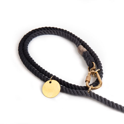 Found My Animal | Adjustable Cotton Rope Dog Leash - Black Ombre