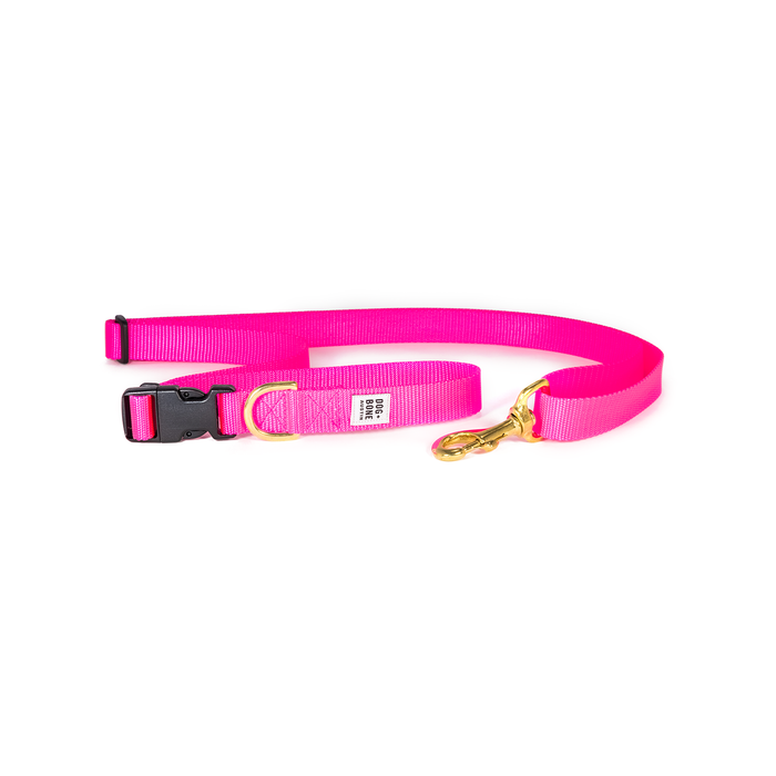 Dog + Bone | Adjustable Leash - Hot Pink