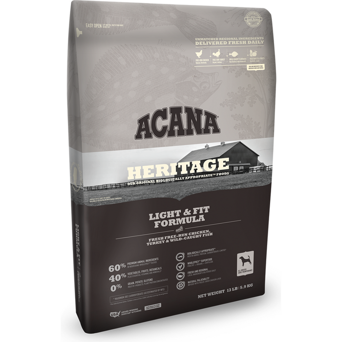 ACANA | Light & Fit Heritage Formula Grain-Free Dry Dog Food