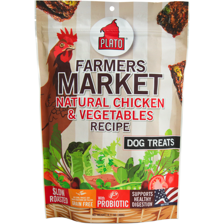Plato® | Farmer's Market Chicken & Vegetables Dog Treats