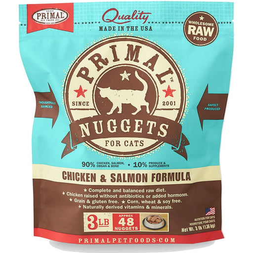 Primal™ | Frozen Raw Chicken & Salmon Formula Cat Food (Local Delivery ONLY - Will Not Ship)