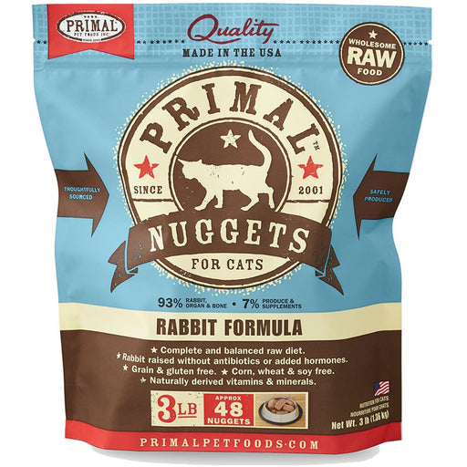 Primal™ | Frozen Raw Rabbit Formula Cat Food (Local Delivery ONLY - Will Not Ship)