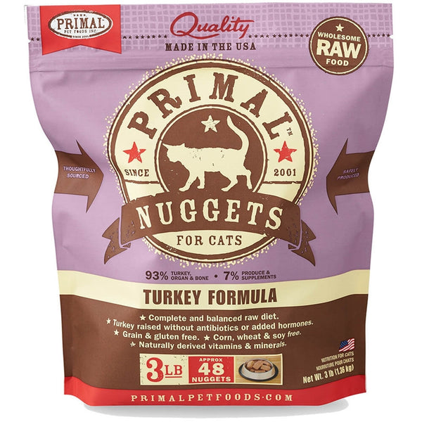 Primal™ | Frozen Raw Turkey Formula Cat Food (Local Delivery ONLY - Will Not Ship)