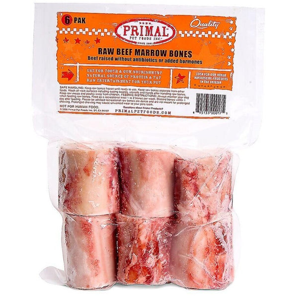 Primal™ | Frozen Raw Marrow Bones - 6 pk (Local Delivery ONLY - Will Not Ship)